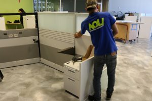 installing office furniture